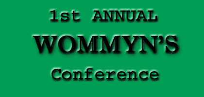 WOMMYN's Conference poster