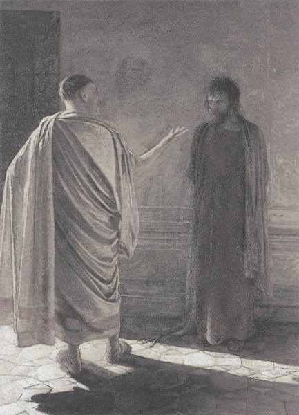Pilate asks Jesus What is Truth? - a painting by Nikolai Ge